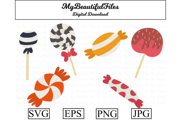Print on Demand: Candy Halloween Graphic Illustrations By MyBeautifulFiles