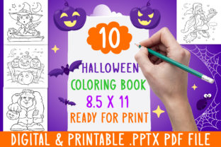 Print on Demand: 10 Halloween Coloring Book for Kids Graphic Coloring Pages & Books Adults By DesignsBundles