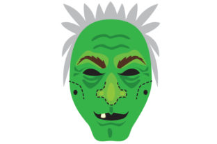 Witch Face Mask Halloween Craft Cut File By Creative Fabrica Crafts