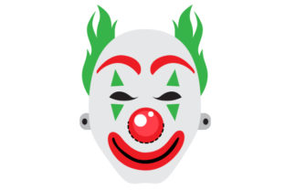 Clown Face Mask Halloween Craft Cut File By Creative Fabrica Crafts