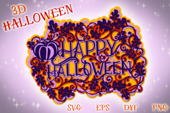 Print on Demand: 3D Halloween  Graphic 3D SVG By tatiana.cociorva