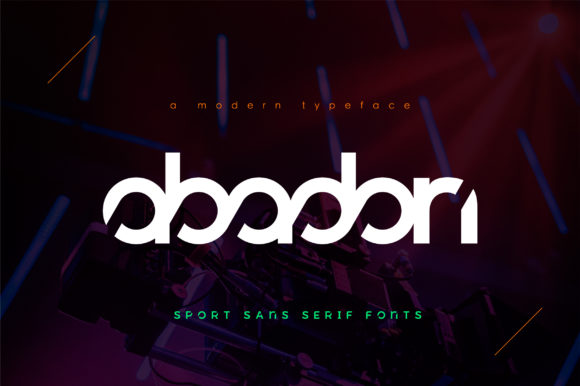 Print on Demand: Abadon Display Font By geengraphy