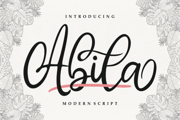 Print on Demand: Abila Script & Handwritten Font By Vunira