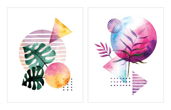 Abstract Water Color Illustration Graphic Illustrations By Big Barn Doodles