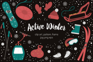 Active Winter Graphic Illustrations By lexiclaus