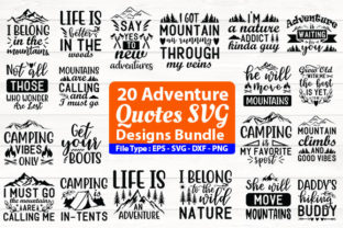 Print on Demand: Adventure Quotes Design Bundle Gráfico Plantillas para Impresión Por Design Store