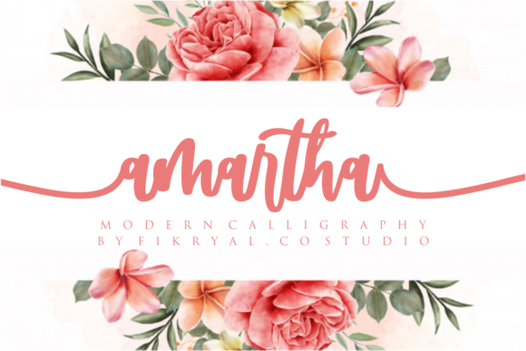 Print on Demand: Amartha Script & Handwritten Font By mfikryalif