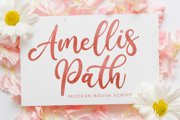 Print on Demand: Amellis Path Script & Handwritten Font By StringLabs