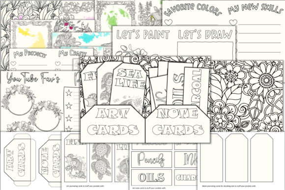 Print on Demand: Art Journal Kit PDF JPEG and PNG Graphic Crafts By The Paper Princess
