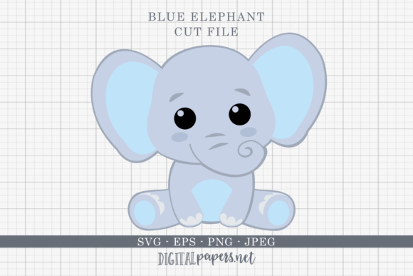 Print on Demand: Baby Elephant  Graphic Crafts By DigitalPapers