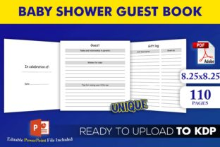 Print on Demand: Baby Shower Guest Book KDP Interior Graphic KDP Interiors By Beast Designer