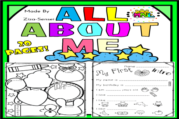 Back to School All About Me Pack Graphic Teaching Materials By Ziza Mariposa