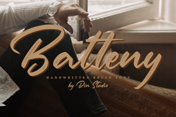 Print on Demand: Batteny Script & Handwritten Font By Din Studio