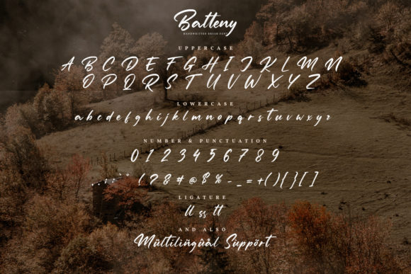 Batteny Font Preview
