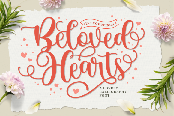 Print on Demand: Beloved Hearts Script & Handwritten Font By Holydie Studio