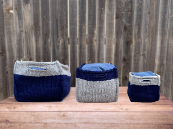 Boxy Baskets Knit Pattern Grafik Knitting Patterns von Knit and Crochet Ever After