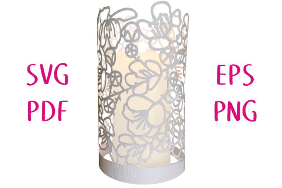 Print on Demand: Bramble Flower Lantern 3D Graphic 3D SVG By Nic Squirrell