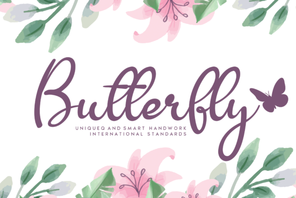Print on Demand: Butterfly Script & Handwritten Font By AN26w