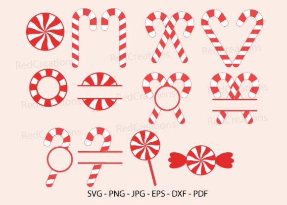 Candy Cane  Graphic Crafts By RedCreations
