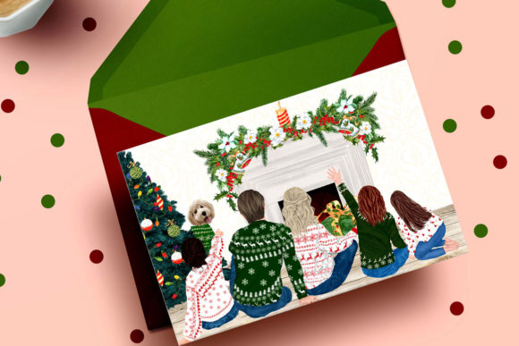 Christmas Family Clipart Mug Clipart Graphic Preview