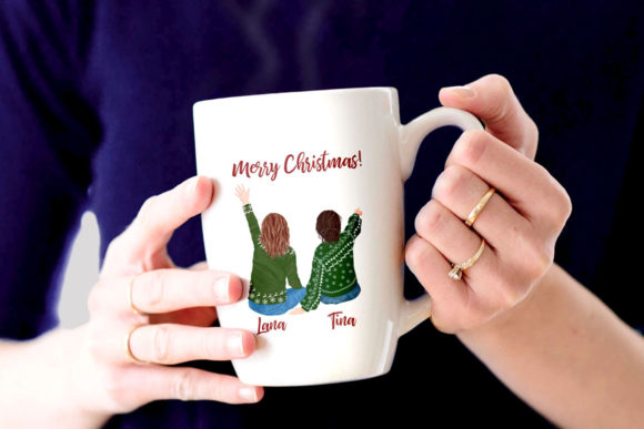 Christmas Family Clipart Mug Clipart Graphic Design Item