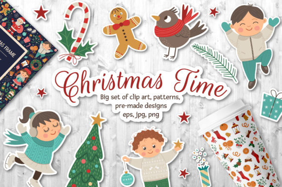 Christmas Time Graphic Illustrations By lexiclaus