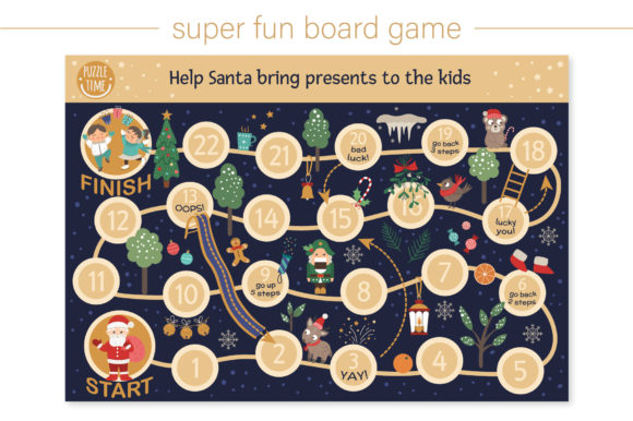 Christmas Games Graphic Downloadable Digital File