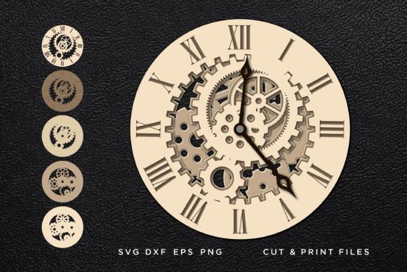 Clock Multilayer 3D Graphic 3D SVG By 2dooart