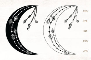 Print on Demand: Crescent Moon Graphic Crafts By Dasagani
