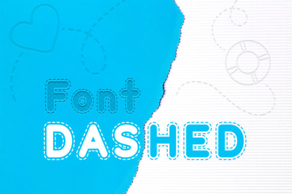 Print on Demand: Dashed Display Font By OWPictures