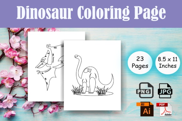 Print on Demand: Dinosaur Coloring Pages 2 for Kids - KDP Graphic Coloring Pages & Books Kids By Sei Ripan
