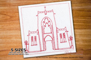 Emir's Palace - Kano Bluework Asia Embroidery Design By Redwork101