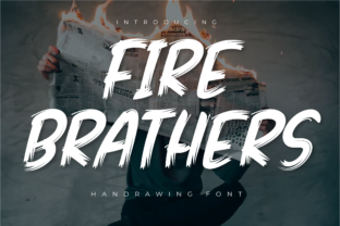 Print on Demand: Fire Brathers Display Font By Productype 1