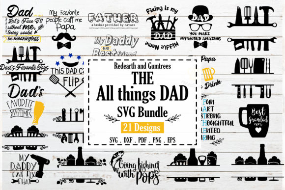 Funny Dad Quote Bundle Graphic Crafts By redearth and gumtrees