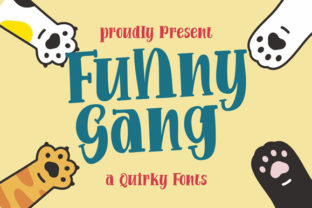 Print on Demand: Funny Gang Display Font By astageni.std