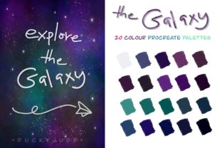 Print on Demand: Galaxy Procreate ColorPalette Graphic Actions & Presets By Duckyjudy store