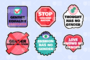 Print on Demand: Gender Stickers Set Graphic Objects By barsrsind