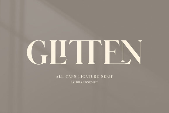 Print on Demand: Glitten Serif Font By BrandSemut