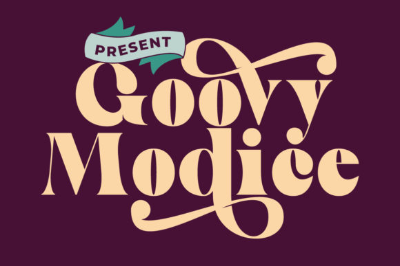 Print on Demand: Goovy Modice Display Font By Fallengraphic