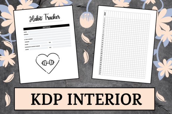 Print on Demand: Habit Tracker | KDP Interior Graphic KDP Interiors By KDP Mastermind