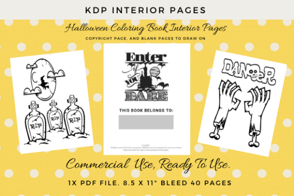 Print on Demand: Halloween Coloring Pages for KDP Graphic KDP Interiors By Simpsys Designs