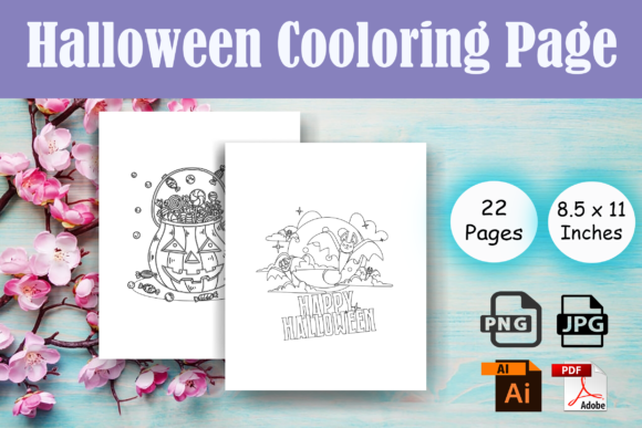 Print on Demand: Halloween Cooloring Page for Teens - KDP Graphic Coloring Pages & Books By Sei Ripan