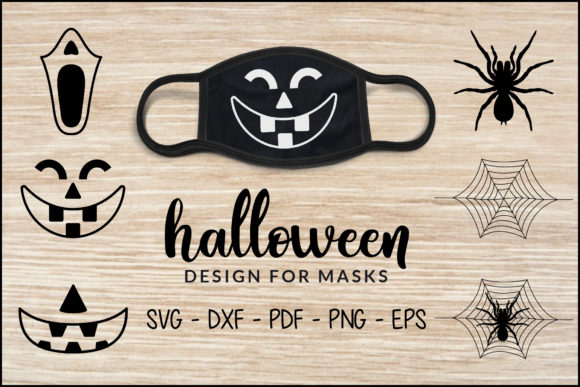 Halloween Design for Masks, Mask Bundle Graphic Crafts By CraftlabSVG