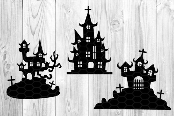 Halloween Haunted House Silhouette Graphic Illustrations By V-Design Creator - Image 3