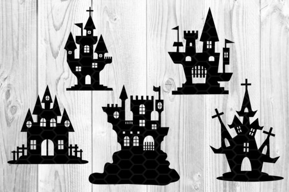 Halloween Haunted House Silhouette Graphic Illustrations By V-Design Creator - Image 4