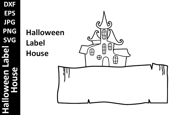 Halloween Label House Fall Graphic Crafts By Oxyp