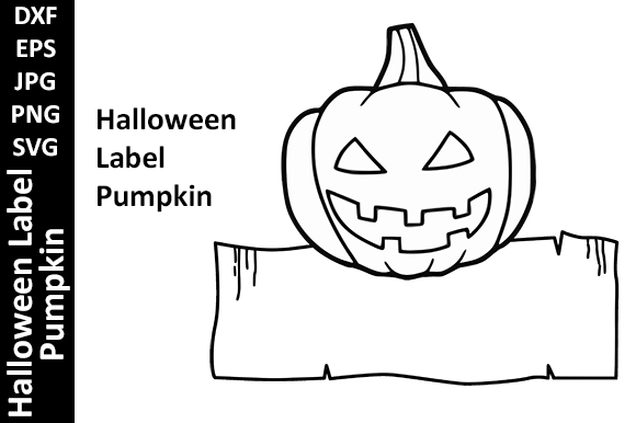 Halloween Label Pumpkin  Graphic Crafts By Oxyp
