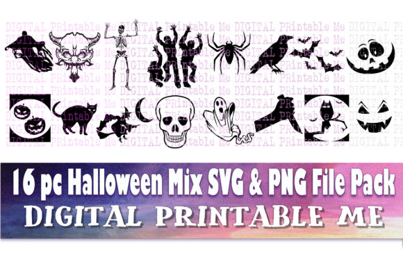 Halloween 2020 Art Pack Halloween Silhouette Clip Art Pack Svg (Graphic) by