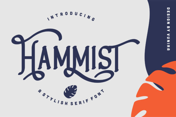 Print on Demand: Hammist Serif Fuente Por Vunira