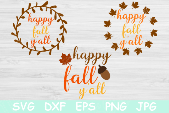 View Happy Fall / Svg Png Jpeg Dxf PNG